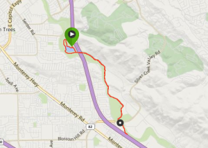 The Hellyer 10k. A lap around the lake, and then an out-and-back on the paved trail