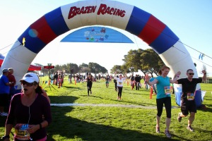 Crossing the finish line in a blistering time of 31 minutes and change.