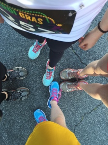 New shoes, old shoes: ready to race the Mardi Gras Madness 5k in San Jose