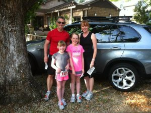 The family at the 2012 Great Race