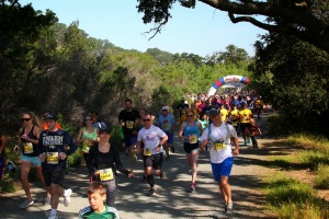 The start of the 5k at the Mt Diablo Trail Challenge