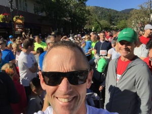 Lined up at the start of the Great Race in Saratoga. The guy behind me posed nicely for the photo too!