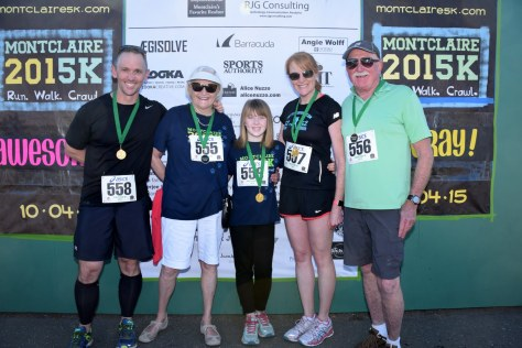 Family shot at the end of the Montclaire 5k