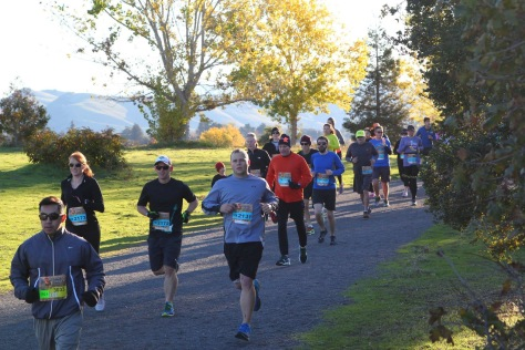 A little cold at the start of the Quarry Turkey 10k